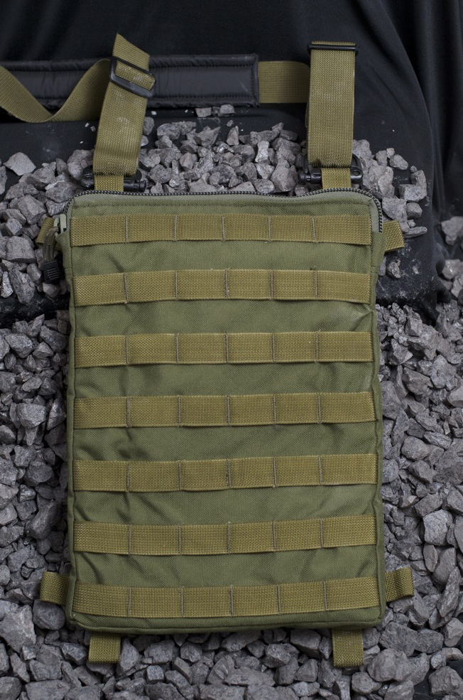 The PALS ladder webbing on both sides of The MOLLE Panel is compatible with all standard MOLLE accessories.